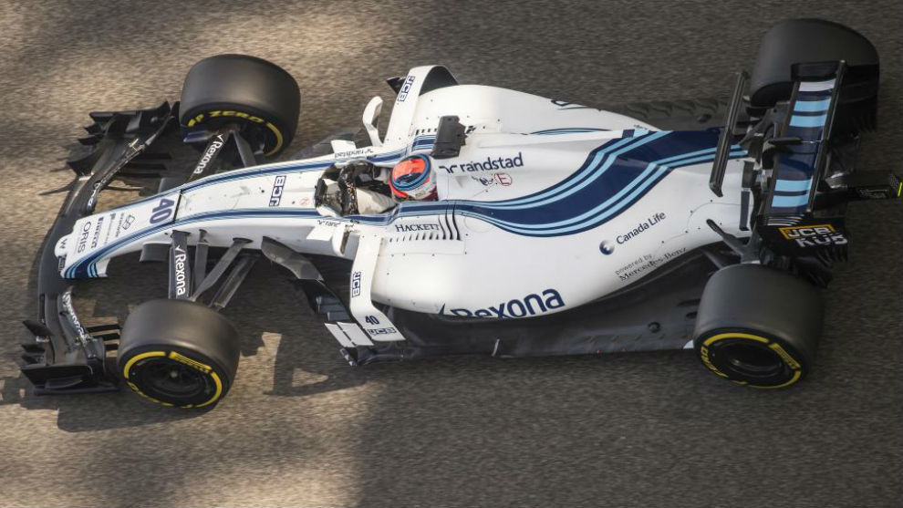 Robert Kubica, durante los test de hoy en Yas Marina.