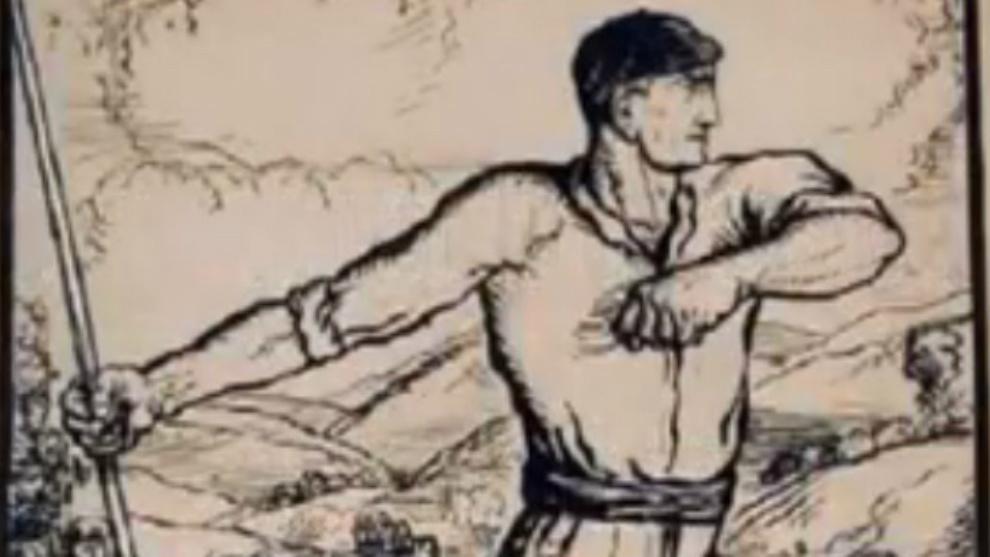 Imagen de un lanzador de barra a la manera tradicional