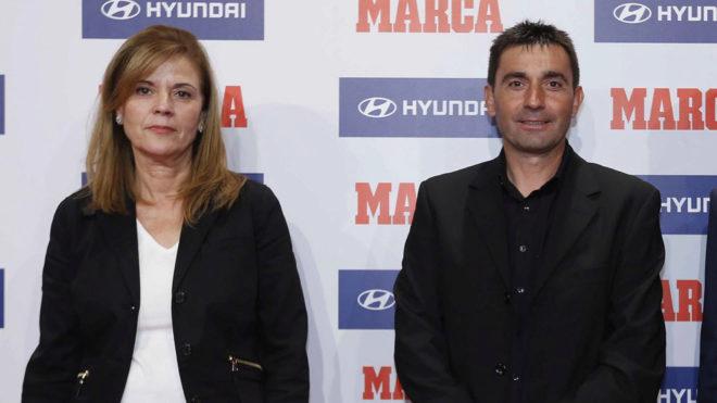 Pavón y Garitano posan en los Premios MARCA
