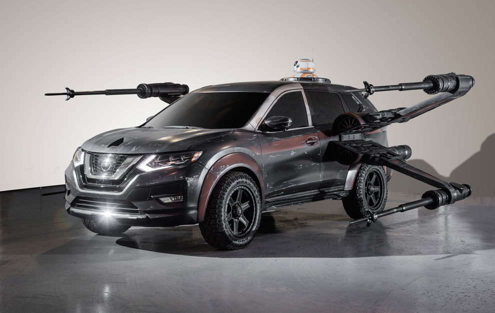 Nissan Rogue X-Wing con BB-8
