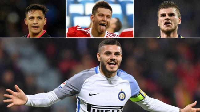 Alexis, Smolov, Werner por encima de Icardi