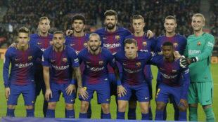 El once del Bar�a contra el Murcia