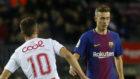 Busquets, contra el Murcia en su debut
