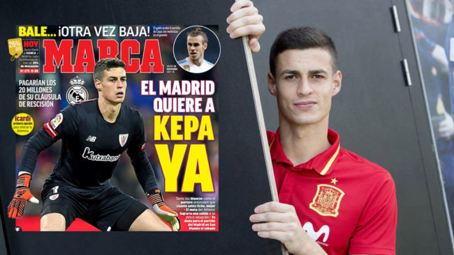 Real Madrid to agree Kepa deal imminently