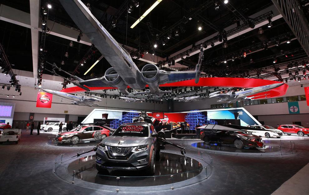 Stand de Nissan en el Salón de Los Ángeles