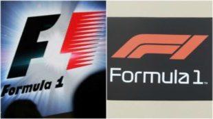 El antiguo (izquierda) y el nuevo (derecha) logo de la F1.