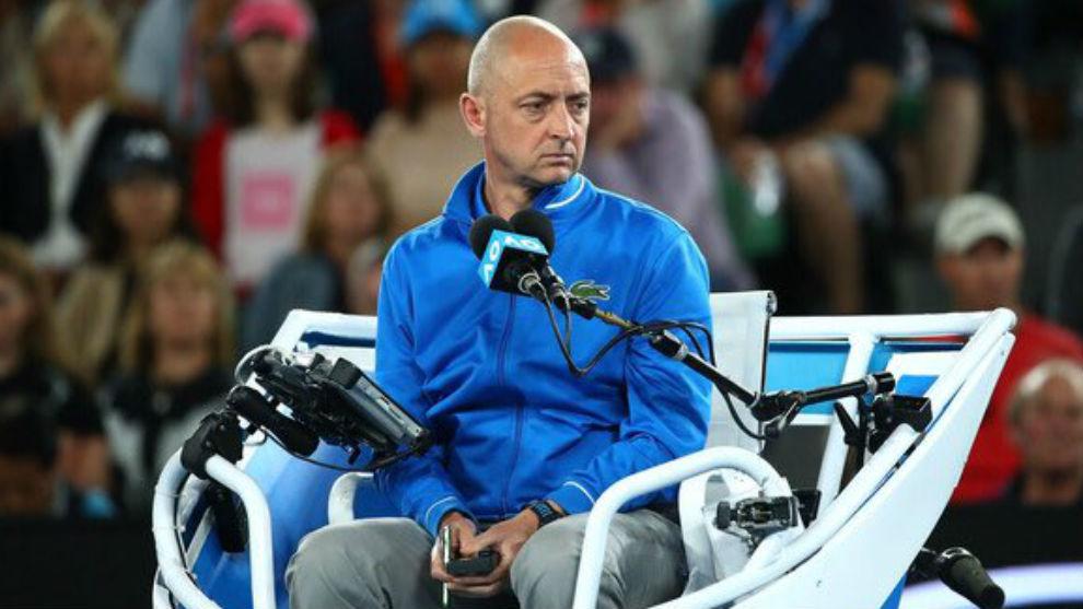 Pascal Maria, en la silla del árbitro