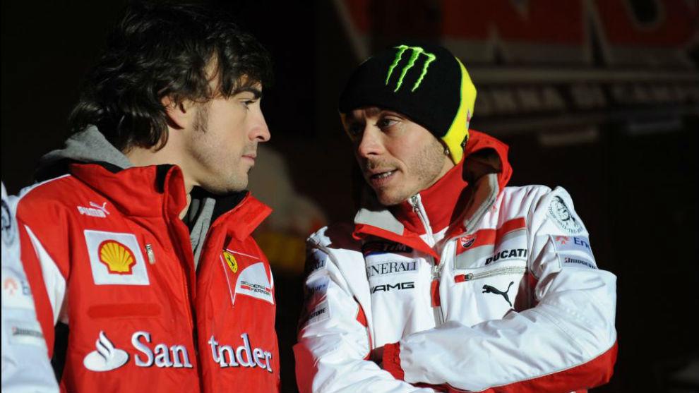 Alonso y Rossi en Madonna di Campiglio en 2012