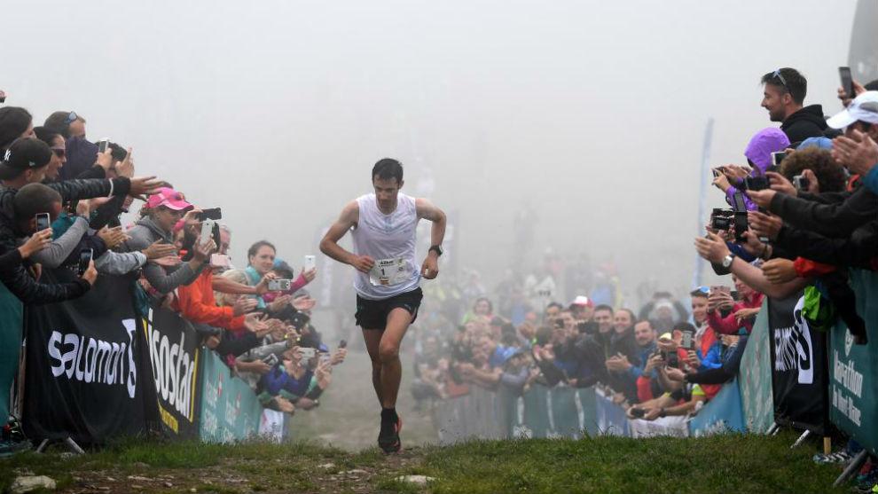 Kilian Jornet, en la meta del Maratón del Mont Blanc