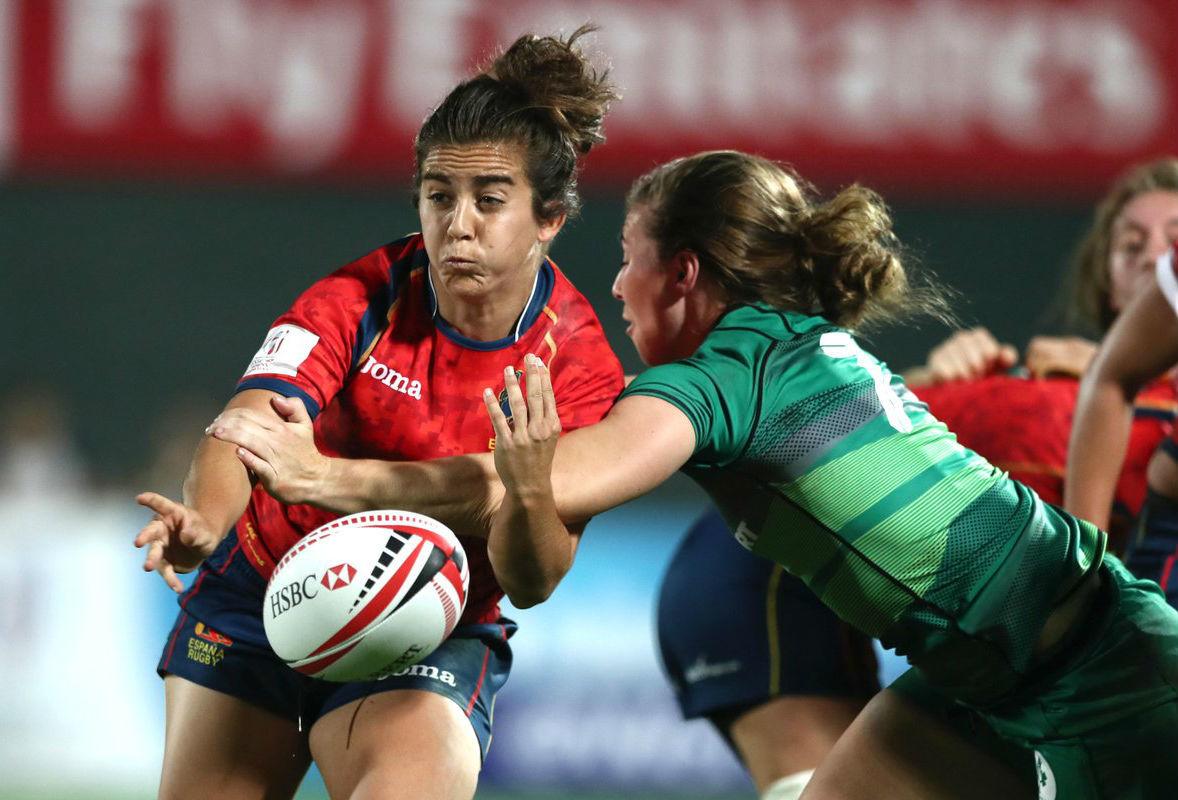 Patricia García, en acción durante el partido ante Irlanda
