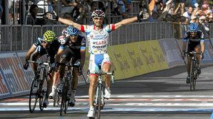 Vicioso, en 2011, momento en el que gana la tercera etapa del Giro