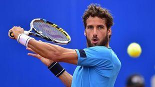 Feliciano López durante un partido de tenis