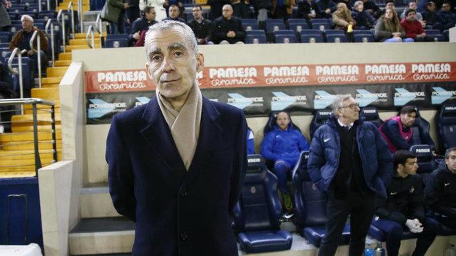 Carlos Terrazas, en el estadio de La Cerámica.