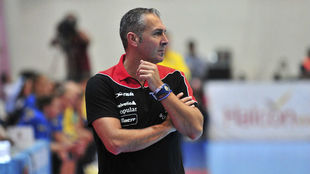 Carlos Viver durante un partido del Torneo Internacional de España...
