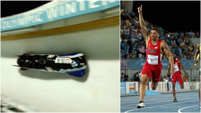 Ryan Bailey, en bobsleigh y en los 100 metros.