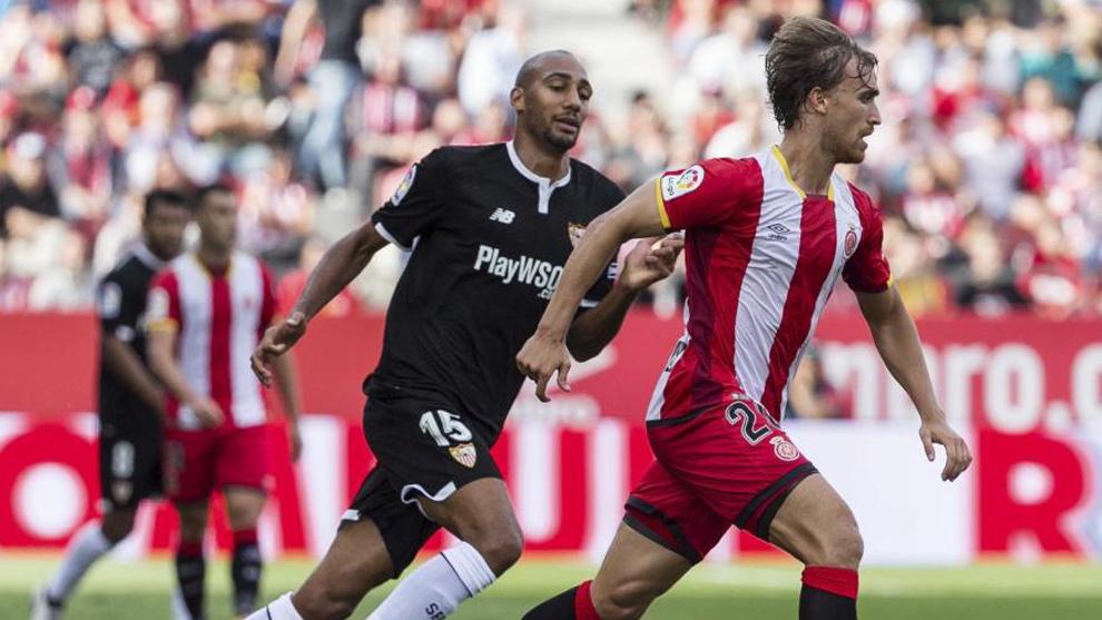 Marc Muniesa, en un partido entre el Girona y el Sevilla