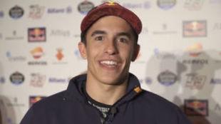 Marc Márquez, en la entrevista con Estrella Galicia 0,0
