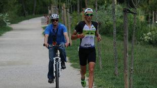 Gustavo Rodríguez en el Half Triathlon Pamplona - Iruña.