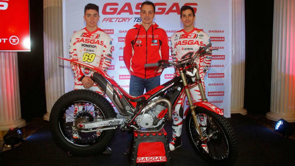 Jaime Busto, Marc Colomer y Jeroni Fajardo, en la presentaci�n del...