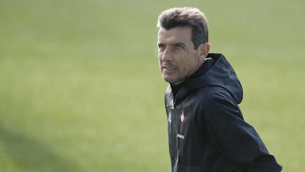 Juan Carlos Unzué, entrenador del Celta.