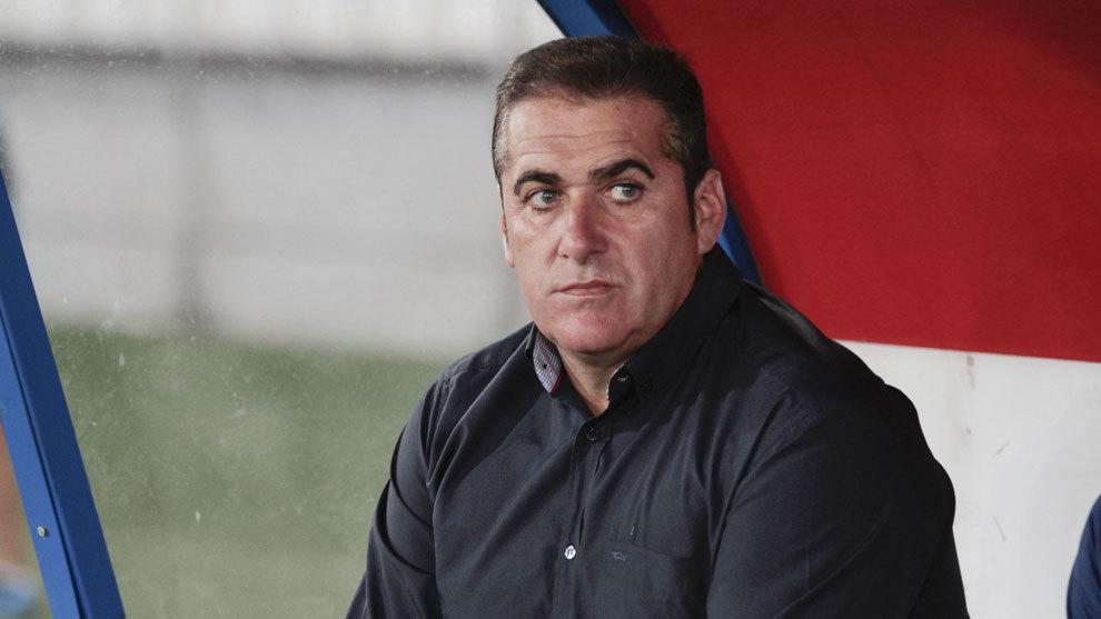 Sandoval en su etapa como entrenador del Rayo.