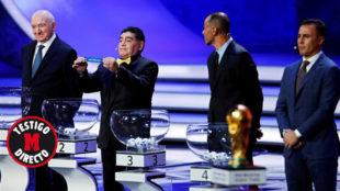 Maradona, en la ceremonia de la FIFA