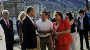 """Francisco Camps, Jorge Mart�nez """"Aspar"""" y Rita Barber�, en..."""