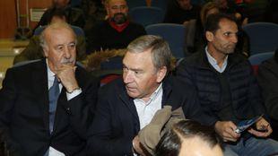 Clemente, junto a Vicente del Bosque en el sorteo del Mundial de Rusia...