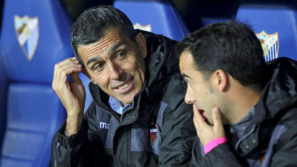 Muñiz, en el partido ante el Málaga