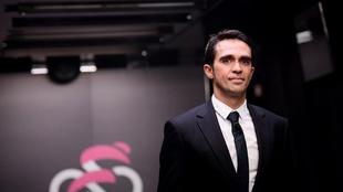 Alberto Contador, durante el evento de lanzamiento del Giro de Italia...