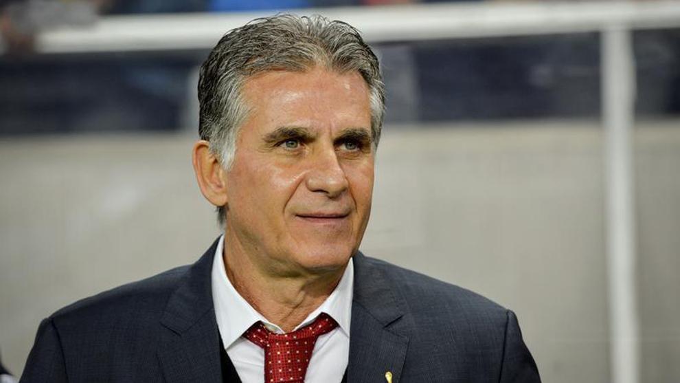 Carlos Queiroz, durante un partido amistoso entre Suecia e Irán