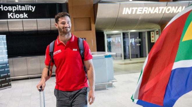 Louis Sinclair a su llegada al aeropuerto Internacional de Ciudad del...