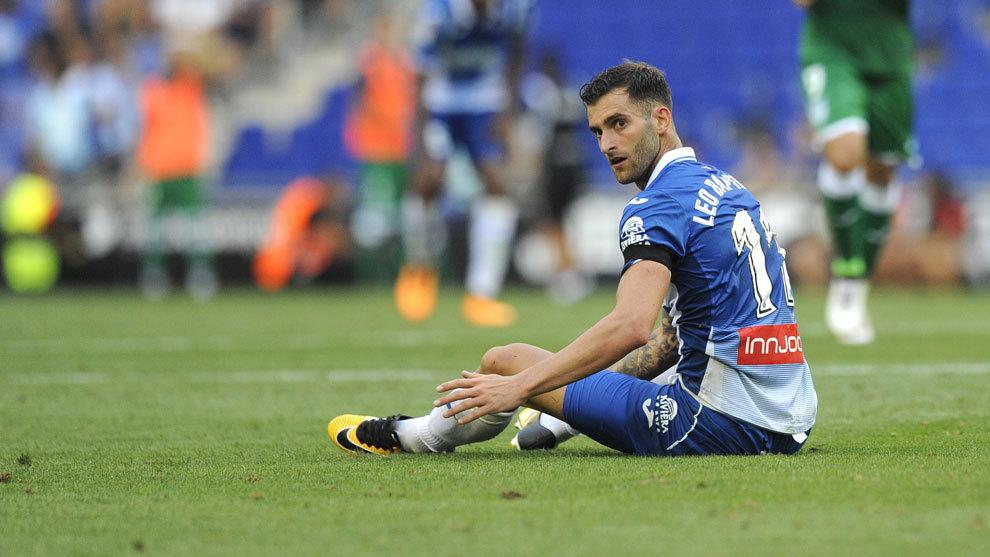 Baptistao en un partido con el Espanyol.