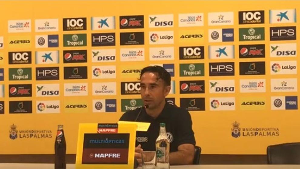 Paquito Ortiz, durante la comparecencia de prensa