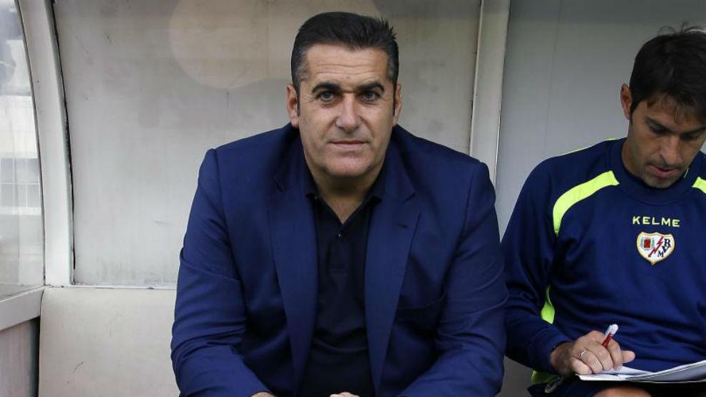 Sandoval, en el banquillo del Rayo.
