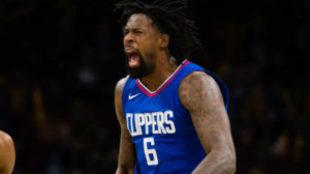 DeAndre Jordan en un partido de esta temporada con los Clippers