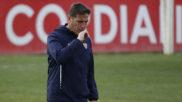 Berizzo, en un entrenamiento con el Sevilla