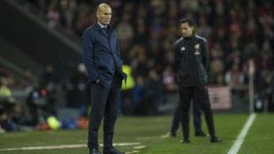 Zidane, en la banda de San Mam�s