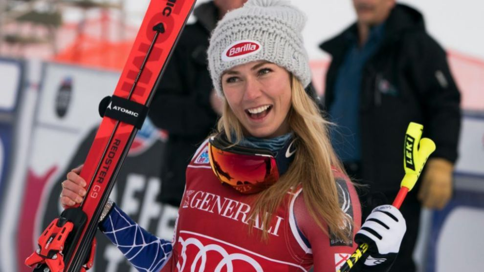 Mikaela Shiffrin ha ganado su primer descenso en la Copa del Mundo en...