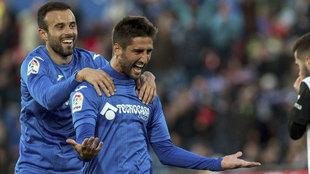 Bergara celebra el gol ante el Valencia