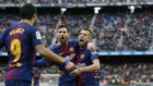 Messi celebra el 2-1 contra el Celta de Vigo.