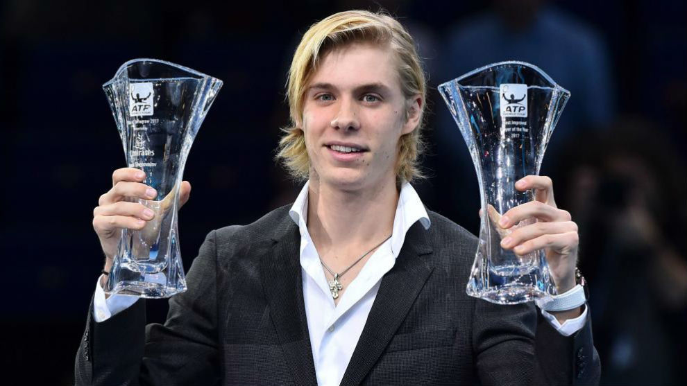 Shapovalov, premiado a la mayor progresión por la ATP