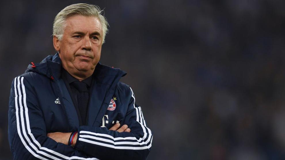 Carlo Ancelotti, durante un partido del Bayern Munich por la...
