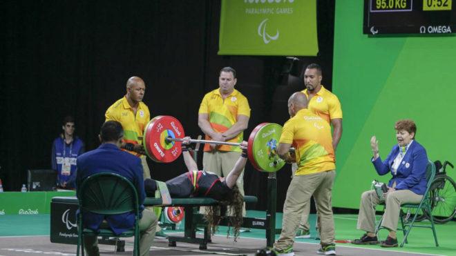 Loida Zabala compitiendo en los Juegos Paralímpicos de Río.