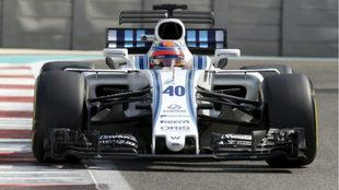 Kubica, en el test de Abu Dabi.