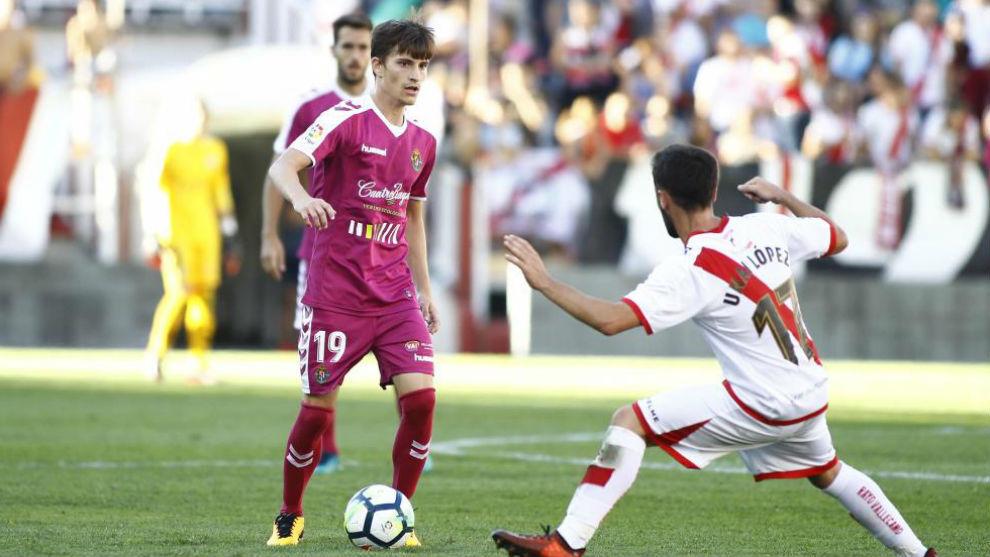 Toni Villa, durante el partido ante el Rayo Vallecano.
