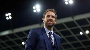 Gareth Southgate, en un partido entre Eslovenia e Inglaterra