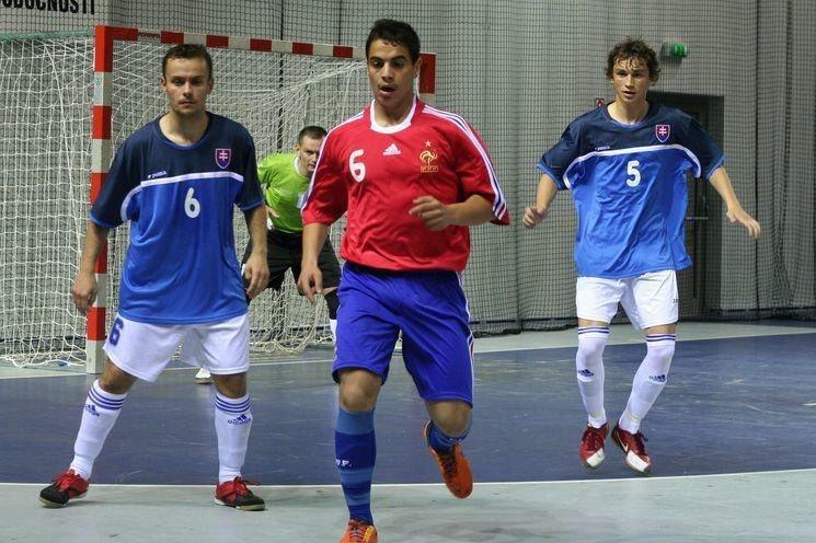 Ben Yedder, con la selección francesa de fútbol sala