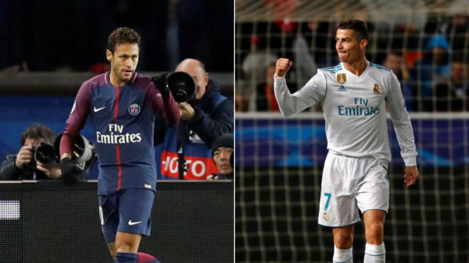 Cristiano Ronaldo And Neymar To Battle For A Champions League Record
