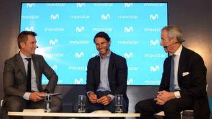 Carlos Martínez, Rafa Nadal y Francisco de Bergia -director de...